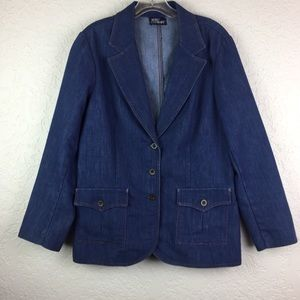 Vintage Koret Blues denim blazer blue EUC Women's